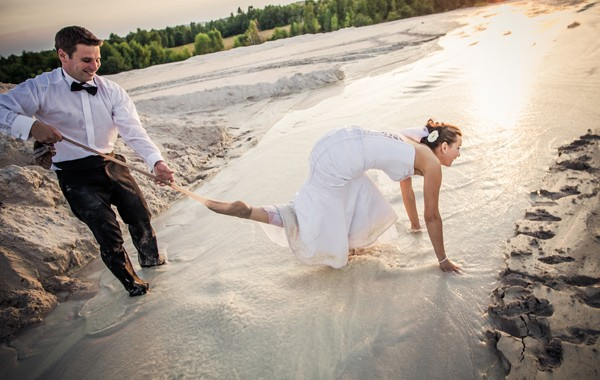 Sesja zdjęciowa na piaskach