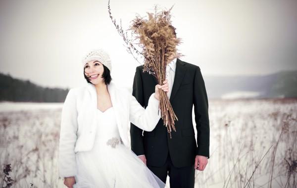 Zimowe zdjęcia ślubne Karkonosze