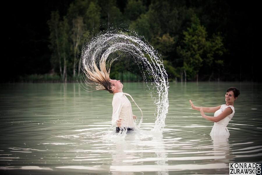 sesja zdjęciowa w wodzie